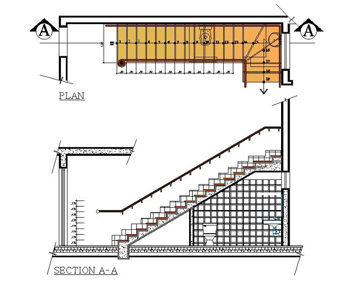 Bản vẽ nhà vệ sinh dưới gầm cầu thang có diện tích rộng rãi, đầy đủ mọi công năng cho gia đình