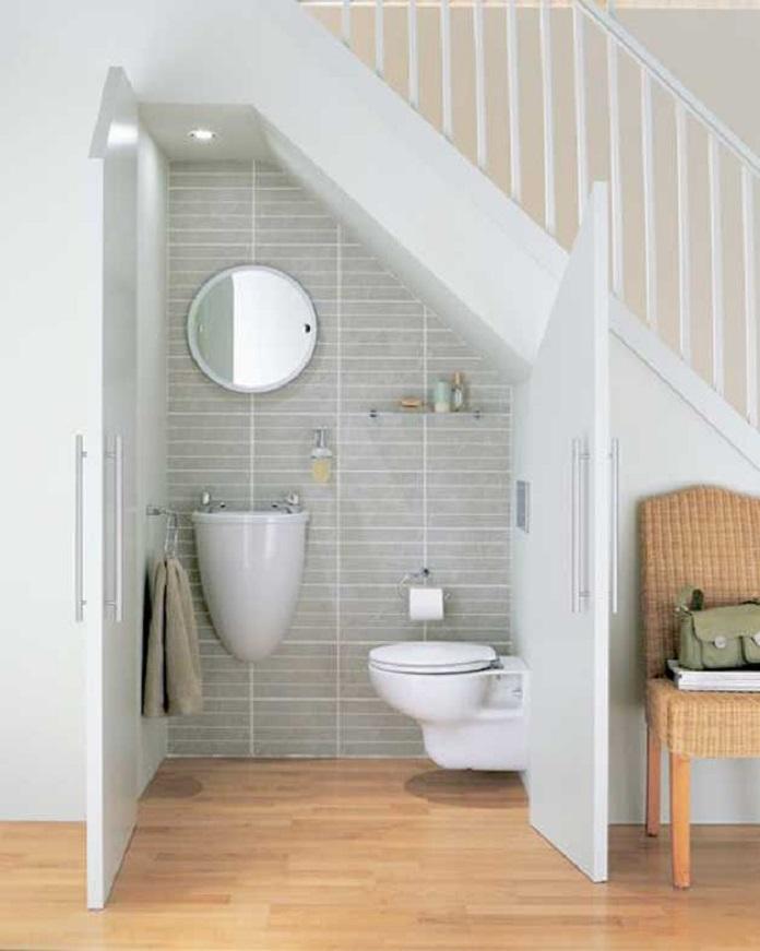 Tiết kiệm được nhiều diện tích hơn với thiết kế nhà vệ sinh dưới gầm cầu thang đầy tiện lợi