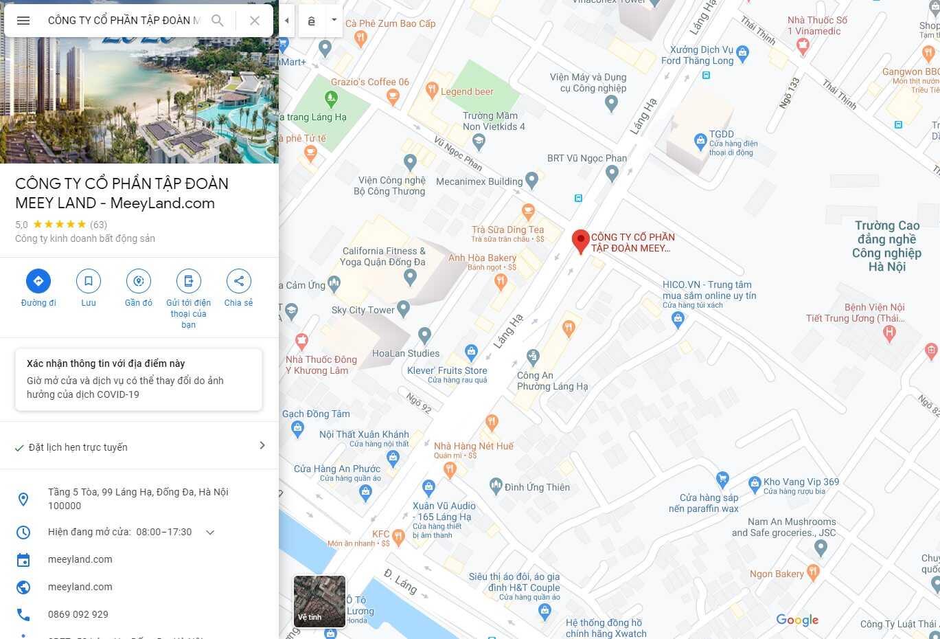 vị trí của bất động sản meeyland