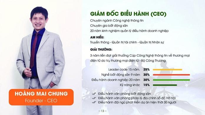 Hoàng Mai Chung - CEO công ty Cổ phần tập đoàn Meeyland