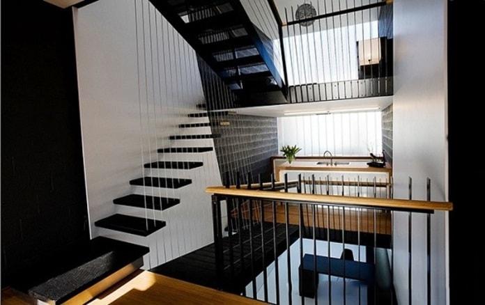 Mẫu cầu thang treo cho nhà hẹp