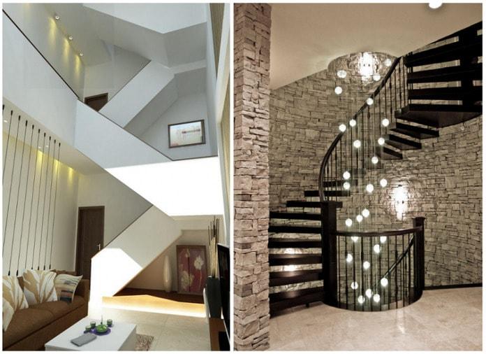 Ngôi nhà mềm mại uyển chuyển hơn với thiết kế thang hình chữ L hoặc xoắn ốc
