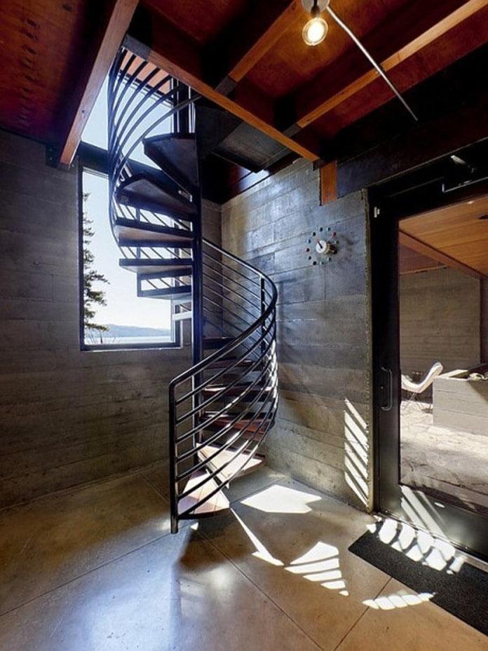 Thiết kế cầu thang xoắn ốc cho nhà hẹp
