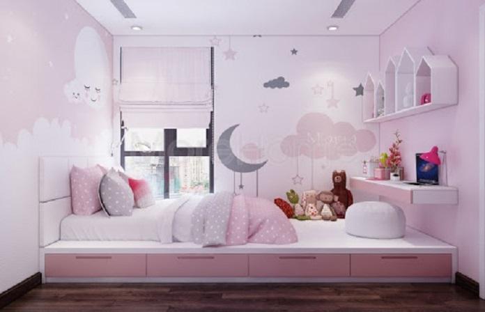 Giấy dán tường đáng yêu cho phòng ngủ của bé
